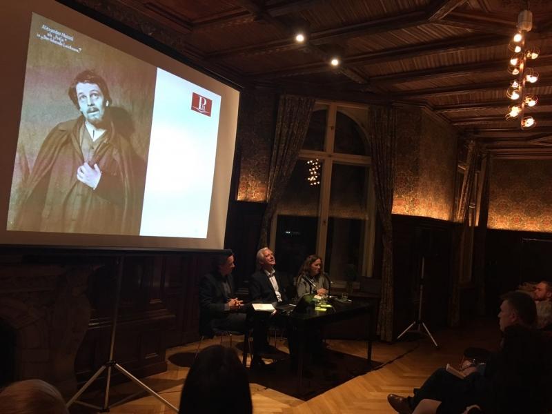 Rüdiger Schaper në Literaturhaus Berlin, 14.3.2018: Aleksandër Moisiu